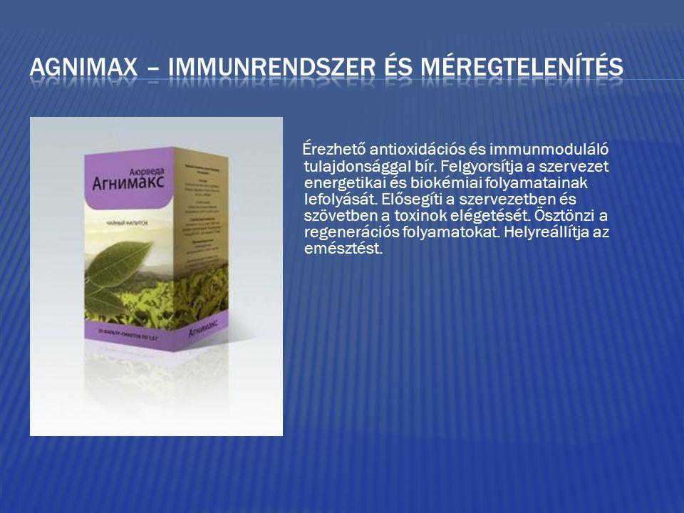 Agnimax – immunrendszer és méregtelenítés
