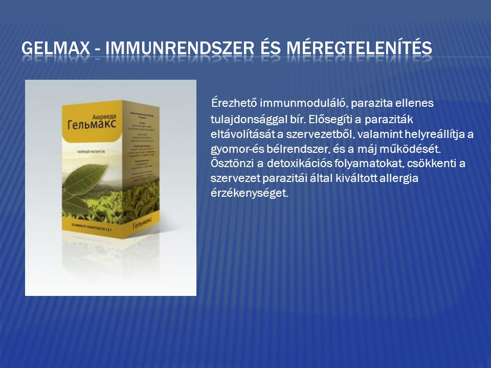 Gelmax - immunrendszer és méregtelenítés