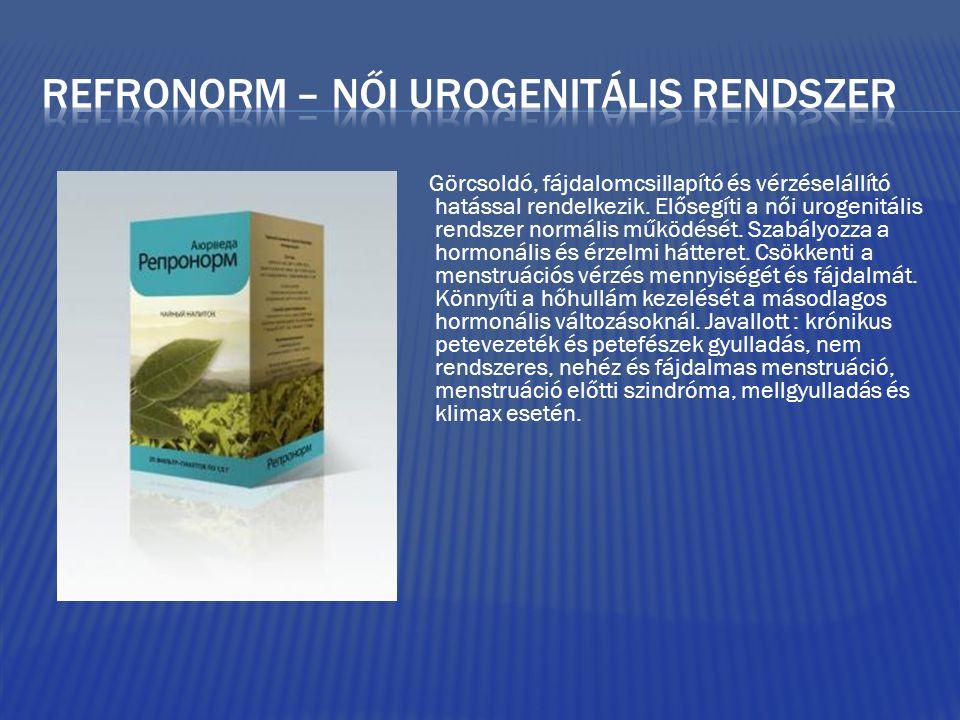 Refronorm – női urogenitális rendszer