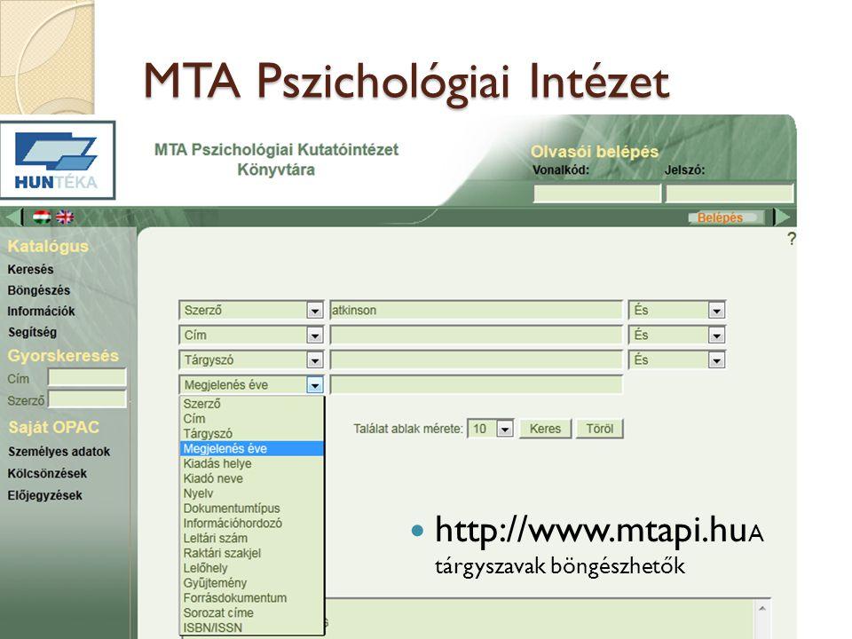 MTA Pszichológiai Intézet