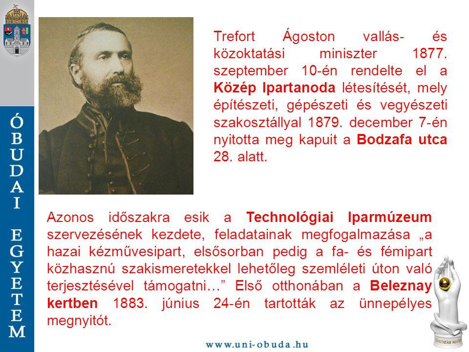 Trefort Ágoston vallás- és közoktatási miniszter 1877