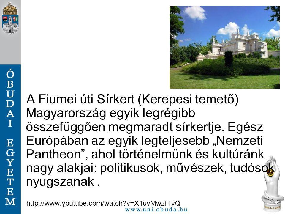 """A Fiumei úti Sírkert (Kerepesi temető) Magyarország egyik legrégibb összefüggően megmaradt sírkertje. Egész Európában az egyik legteljesebb """"Nemzeti Pantheon , ahol történelmünk és kultúránk nagy alakjai: politikusok, művészek, tudósok nyugszanak ."""