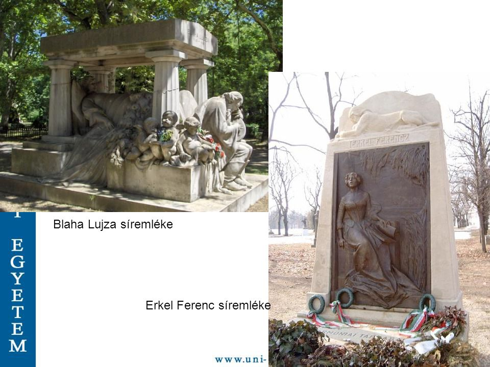 Blaha Lujza síremléke Erkel Ferenc síremléke
