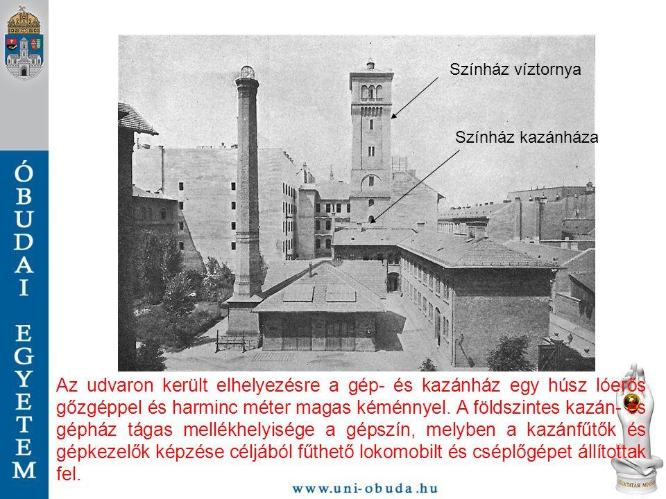 Színház víztornya Színház kazánháza.
