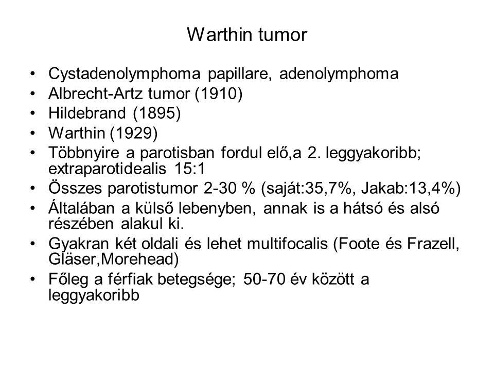 Warthin tumor Cystadenolymphoma papillare, adenolymphoma