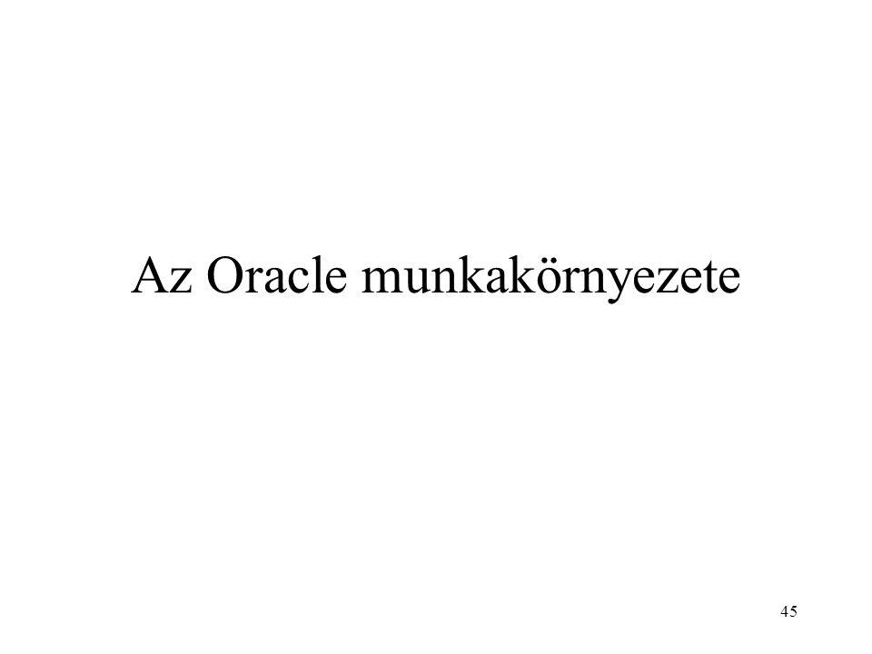 Az Oracle munkakörnyezete