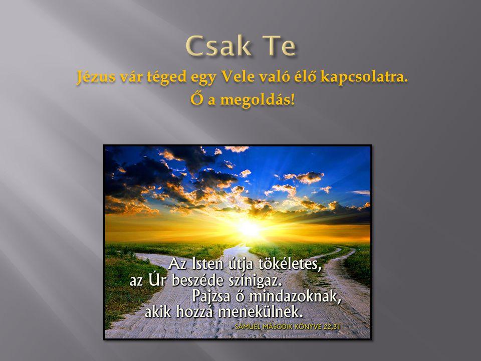 Jézus vár téged egy Vele való élő kapcsolatra. Ő a megoldás!