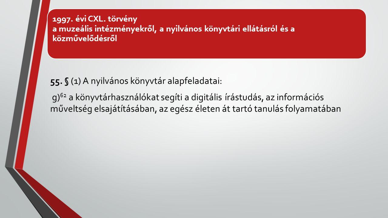 1997. évi CXL. törvény a muzeális intézményekről, a nyilvános könyvtári ellátásról és a közművelődésről
