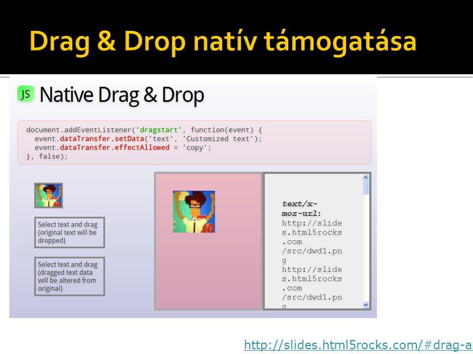Drag & Drop natív támogatása