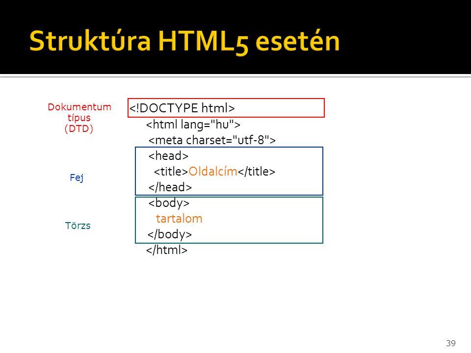 Dokumentum típus (DTD)