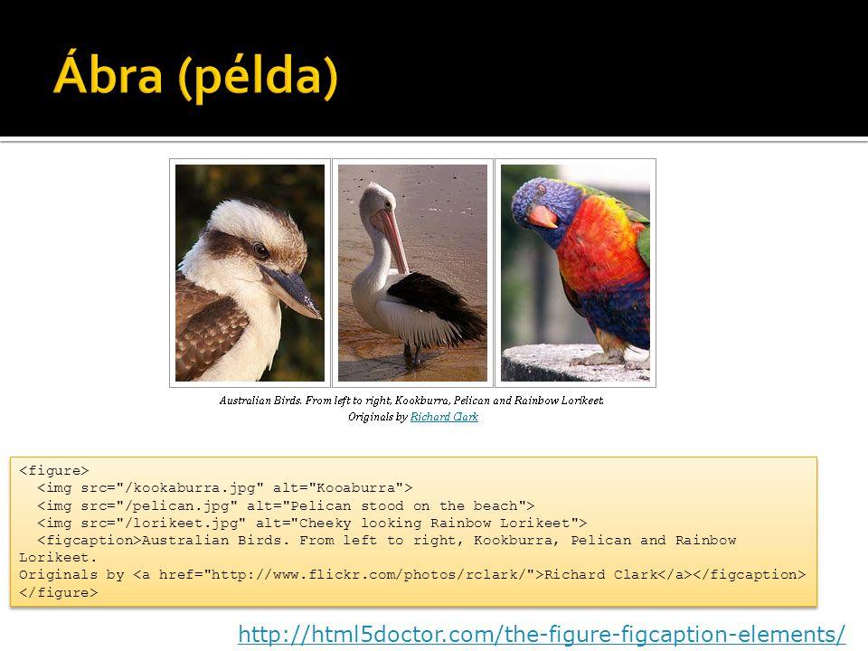 Ábra (példa) http://html5doctor.com/the-figure-figcaption-elements/