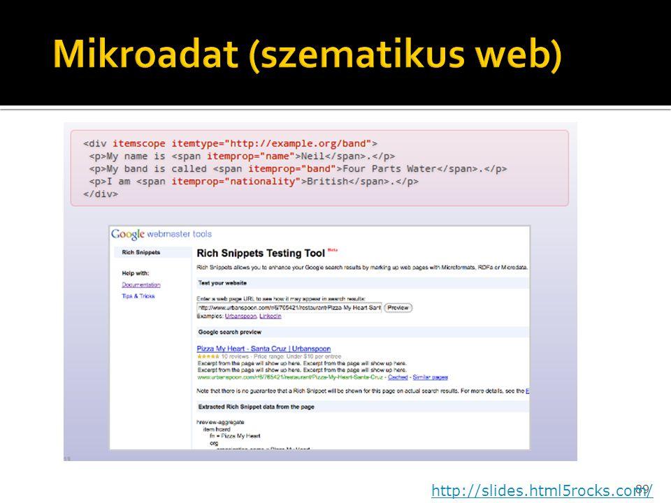 Mikroadat (szematikus web)
