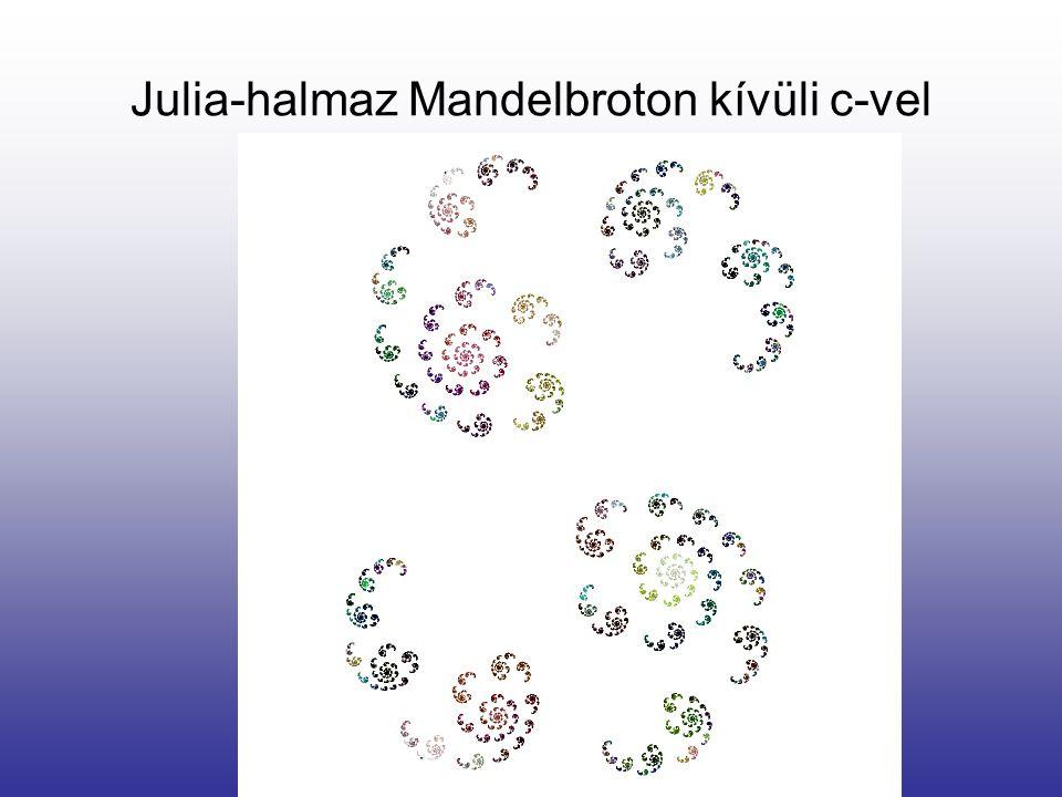 Julia-halmaz Mandelbroton kívüli c-vel
