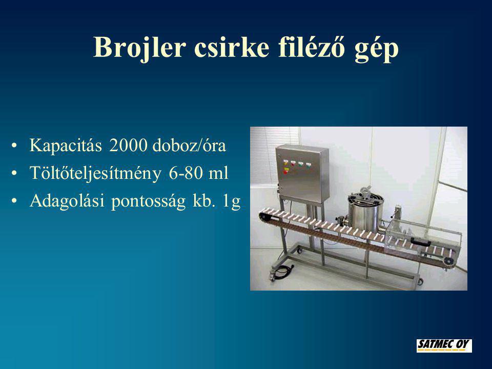 Brojler csirke filéző gép