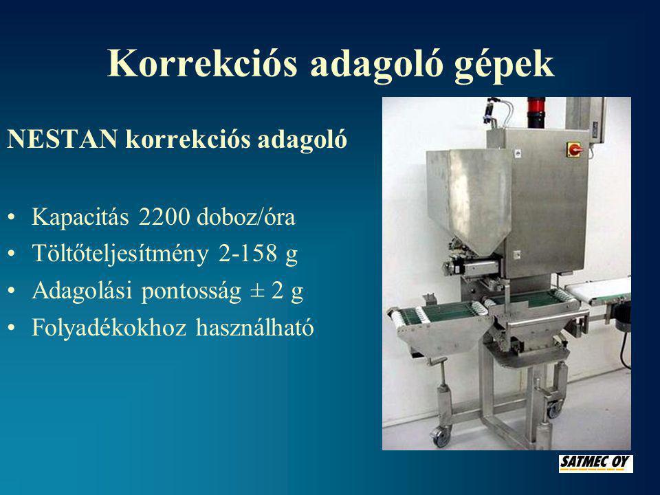 Korrekciós adagoló gépek