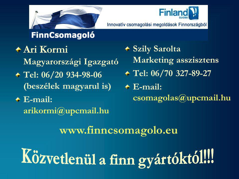 Közvetlenül a finn gyártóktól!!!