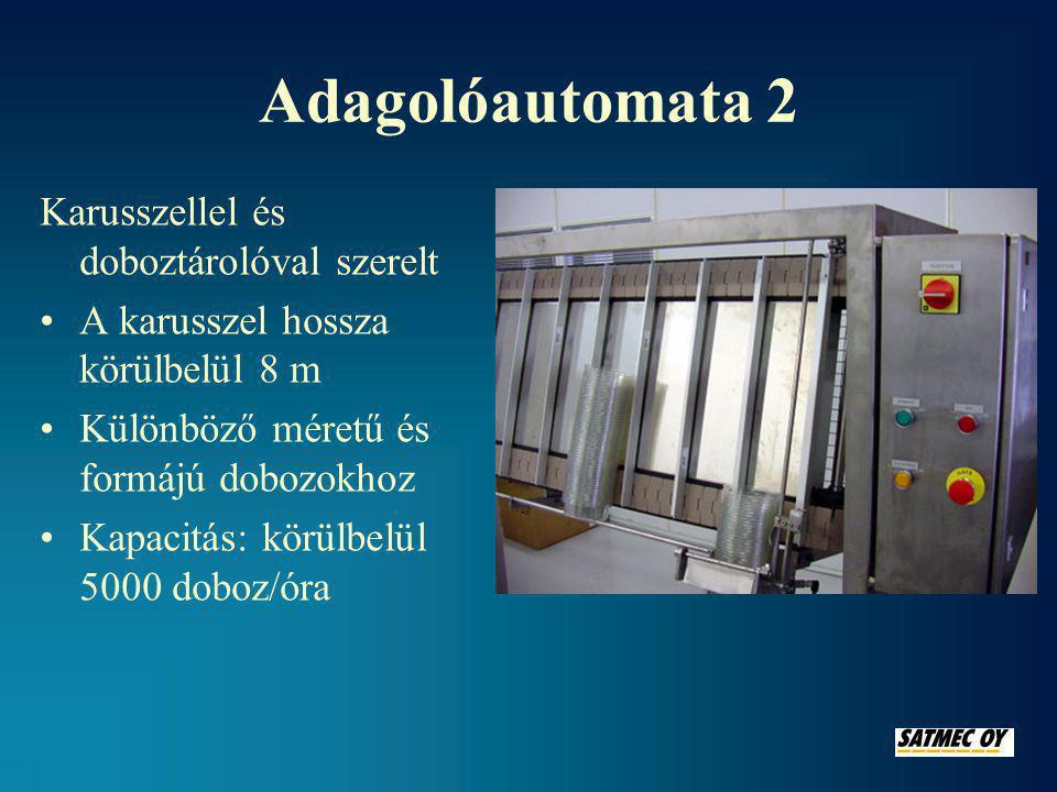 Adagolóautomata 2 Karusszellel és doboztárolóval szerelt