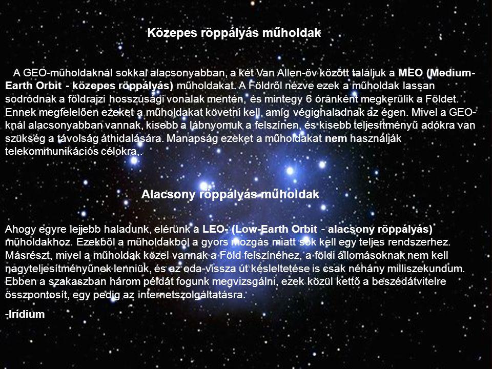 Alacsony röppályás műholdak