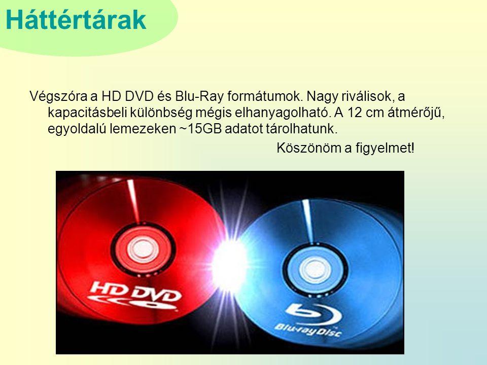 Végszóra a HD DVD és Blu-Ray formátumok