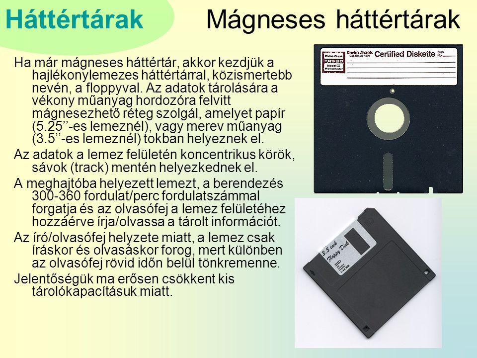 Mágneses háttértárak