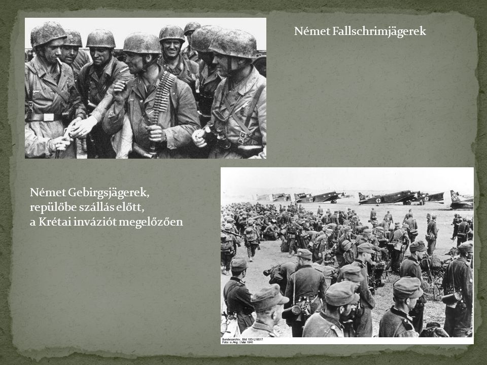 Német Fallschrimjägerek