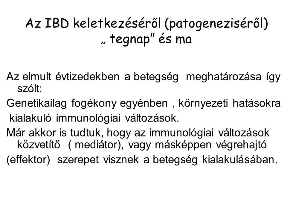 """Az IBD keletkezéséről (patogeneziséről) """" tegnap és ma"""