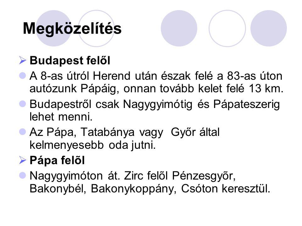 Megközelítés Budapest felől