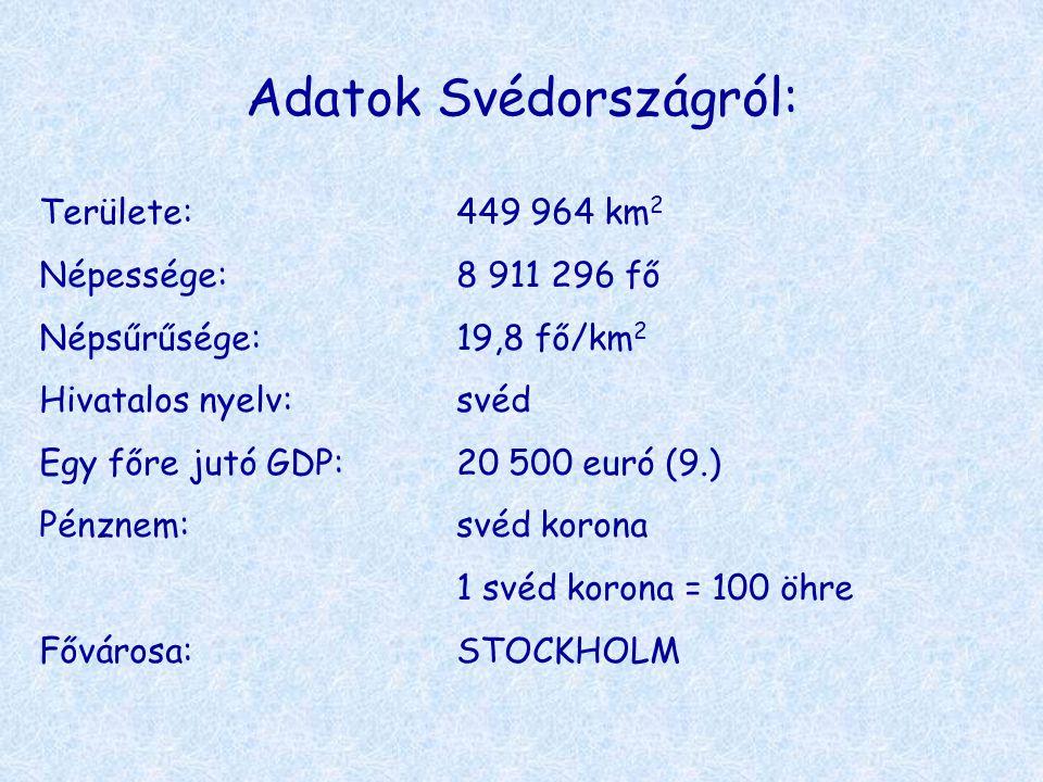 Adatok Svédországról: