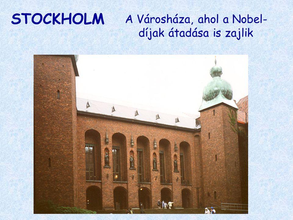 A Városháza, ahol a Nobel-díjak átadása is zajlik