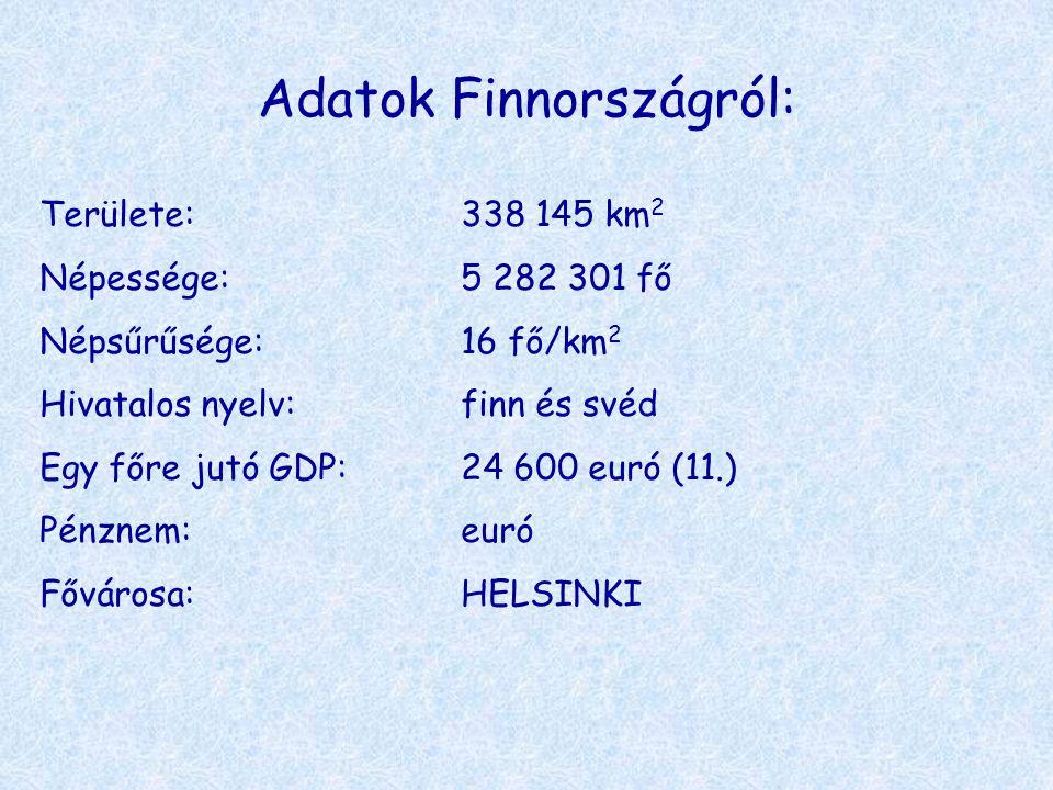 Adatok Finnországról: