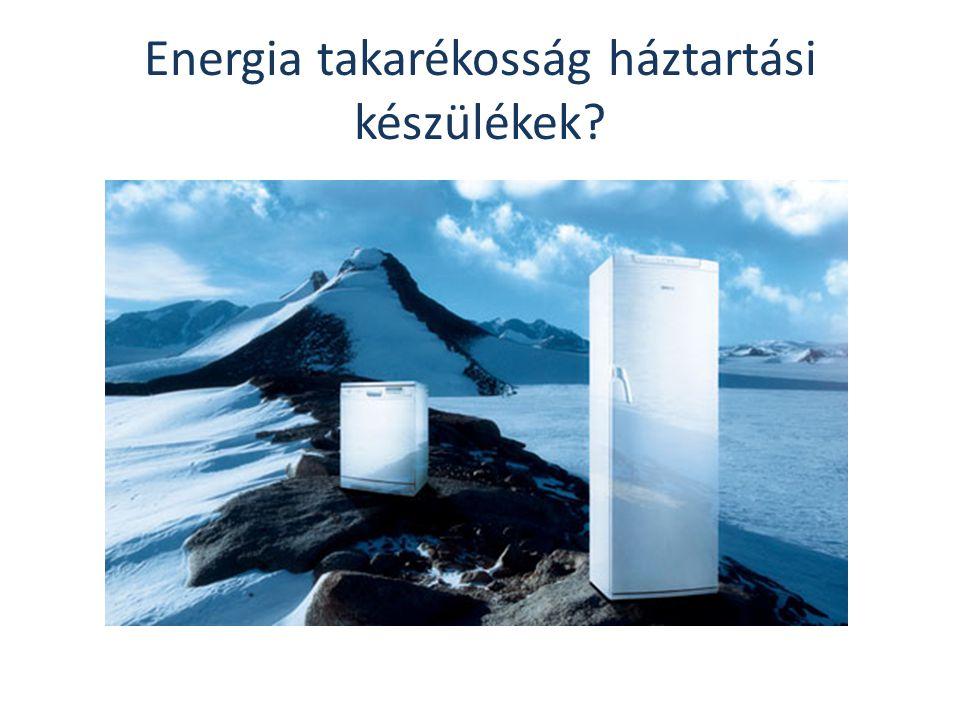 Energia takarékosság háztartási készülékek