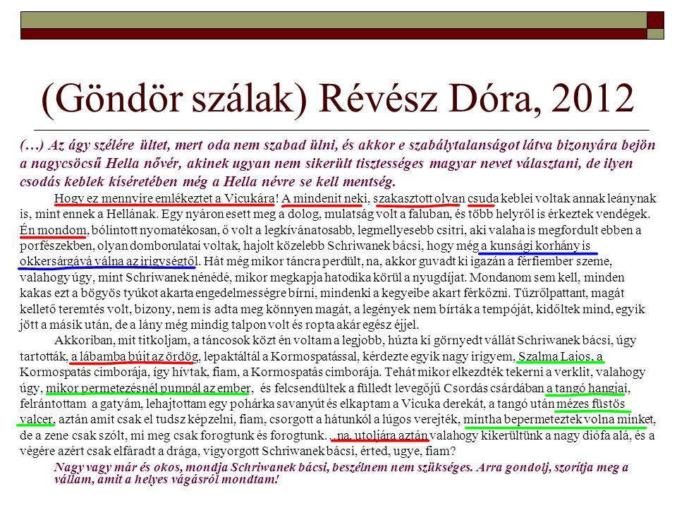 (Göndör szálak) Révész Dóra, 2012