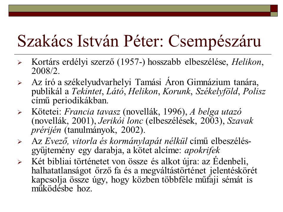 Szakács István Péter: Csempészáru