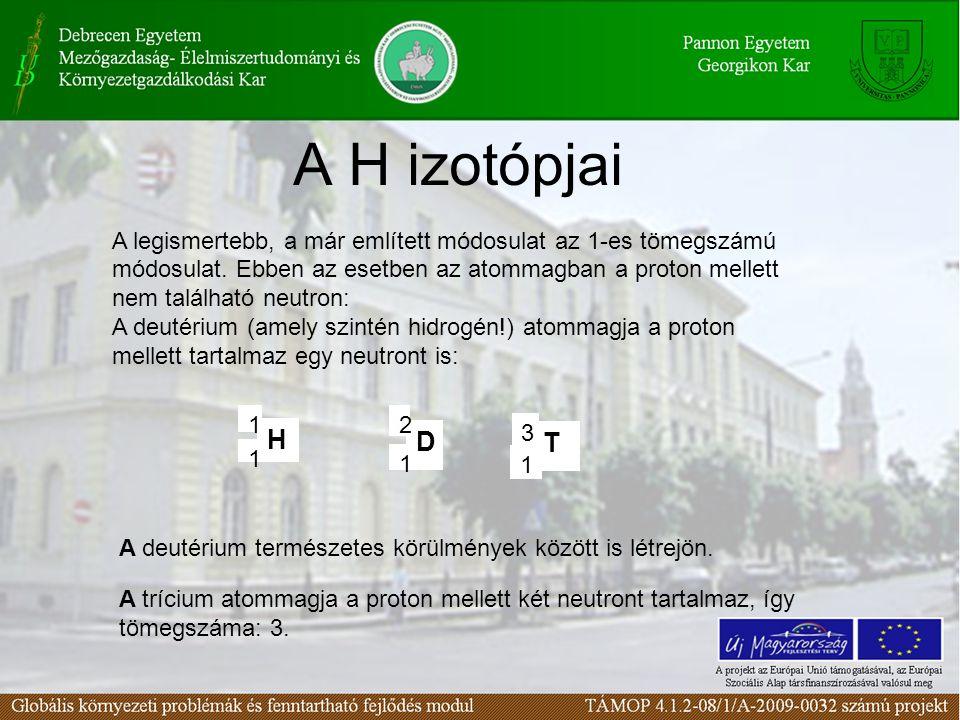 A H izotópjai