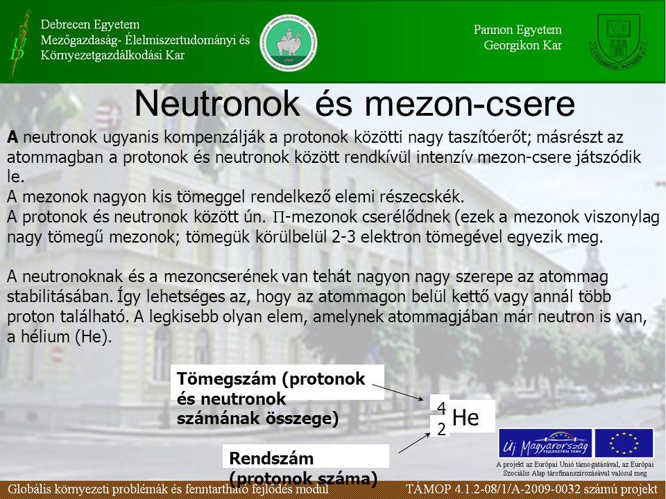Neutronok és mezon-csere