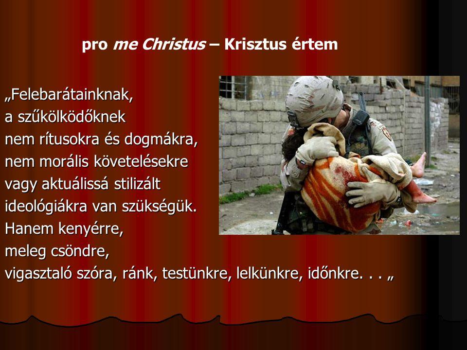pro me Christus – Krisztus értem