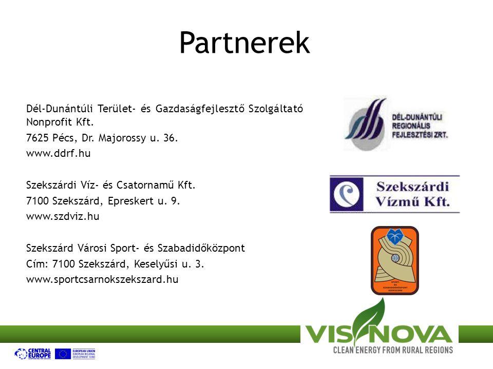 Partnerek Dél-Dunántúli Terület- és Gazdaságfejlesztő Szolgáltató Nonprofit Kft. 7625 Pécs, Dr. Majorossy u. 36.