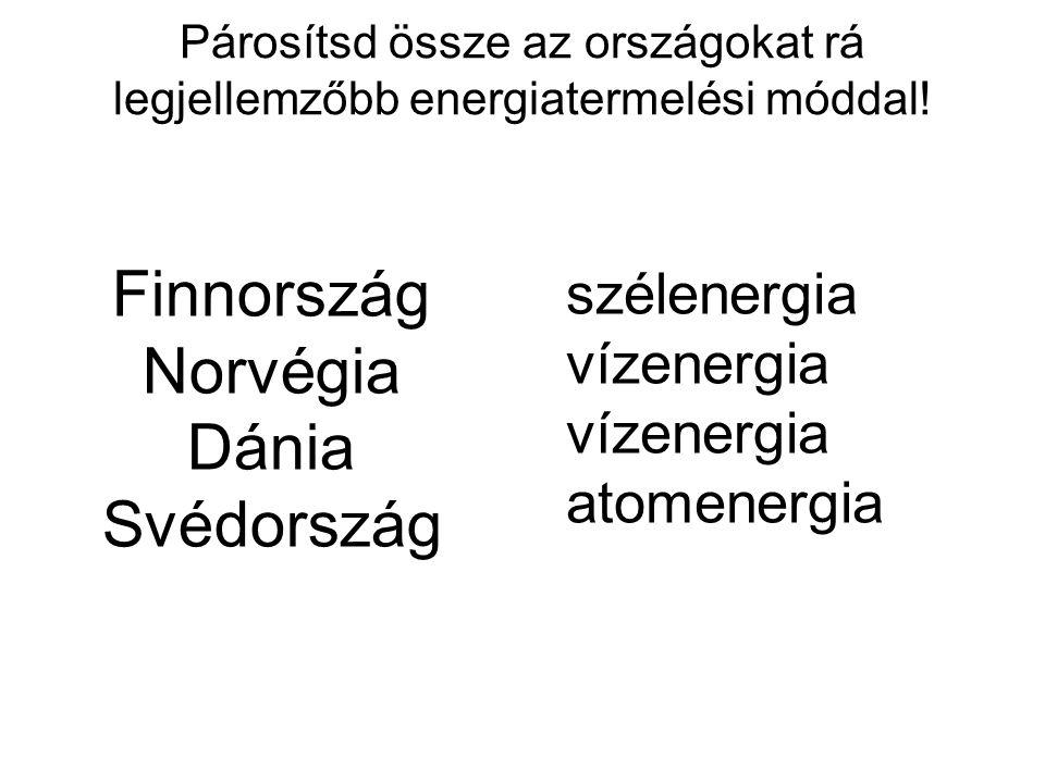 Finnország Norvégia Dánia Svédország szélenergia vízenergia