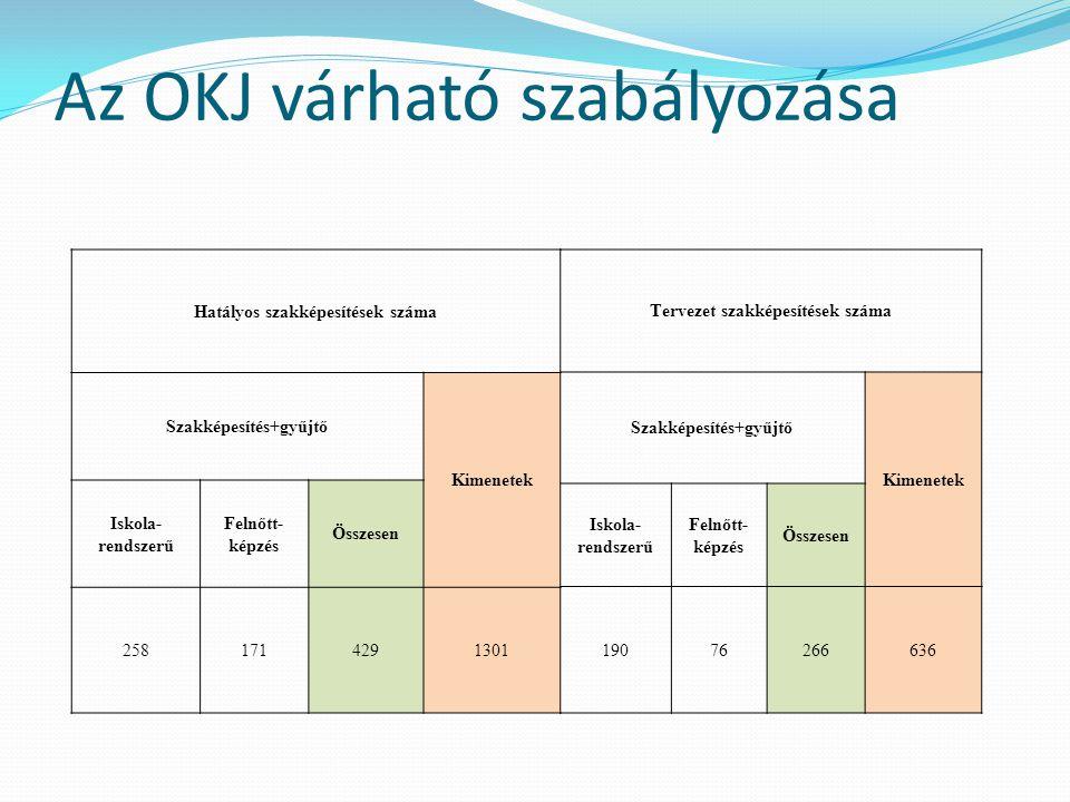 Az OKJ várható szabályozása