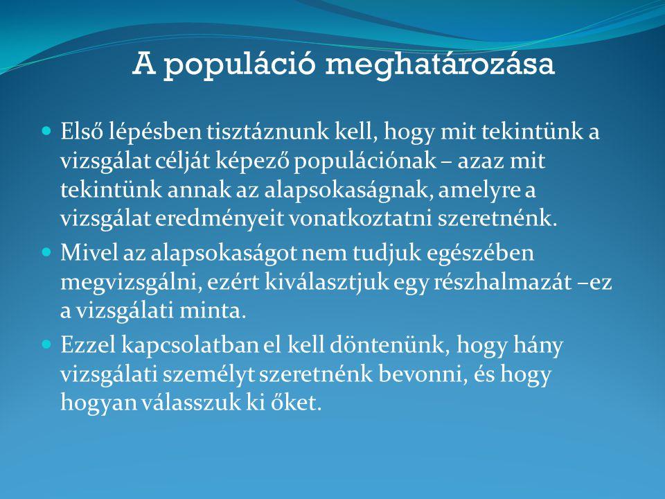 A populáció meghatározása