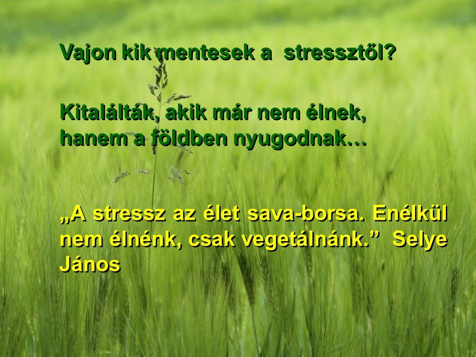 Vajon kik mentesek a stressztől