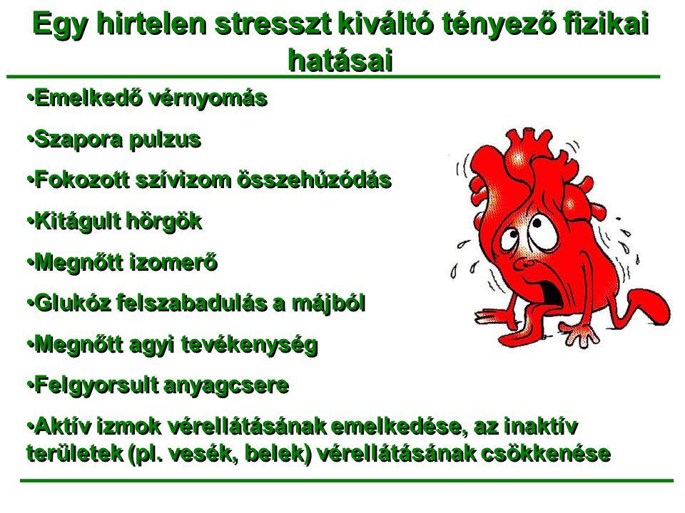 Egy hirtelen stresszt kiváltó tényező fizikai hatásai