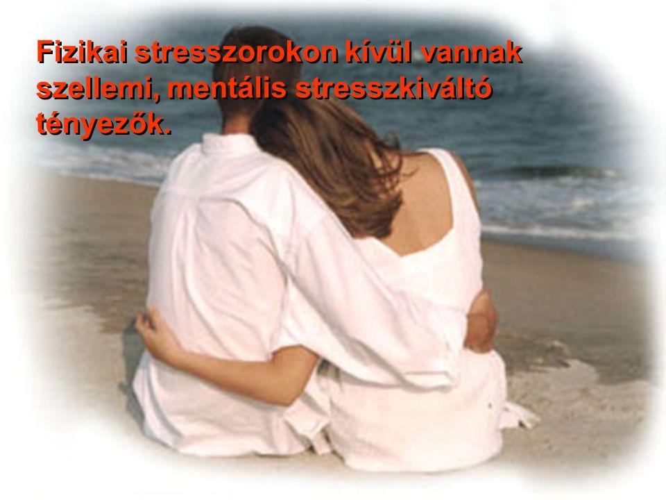 Fizikai stresszorokon kívül vannak szellemi, mentális stresszkiváltó tényezők.