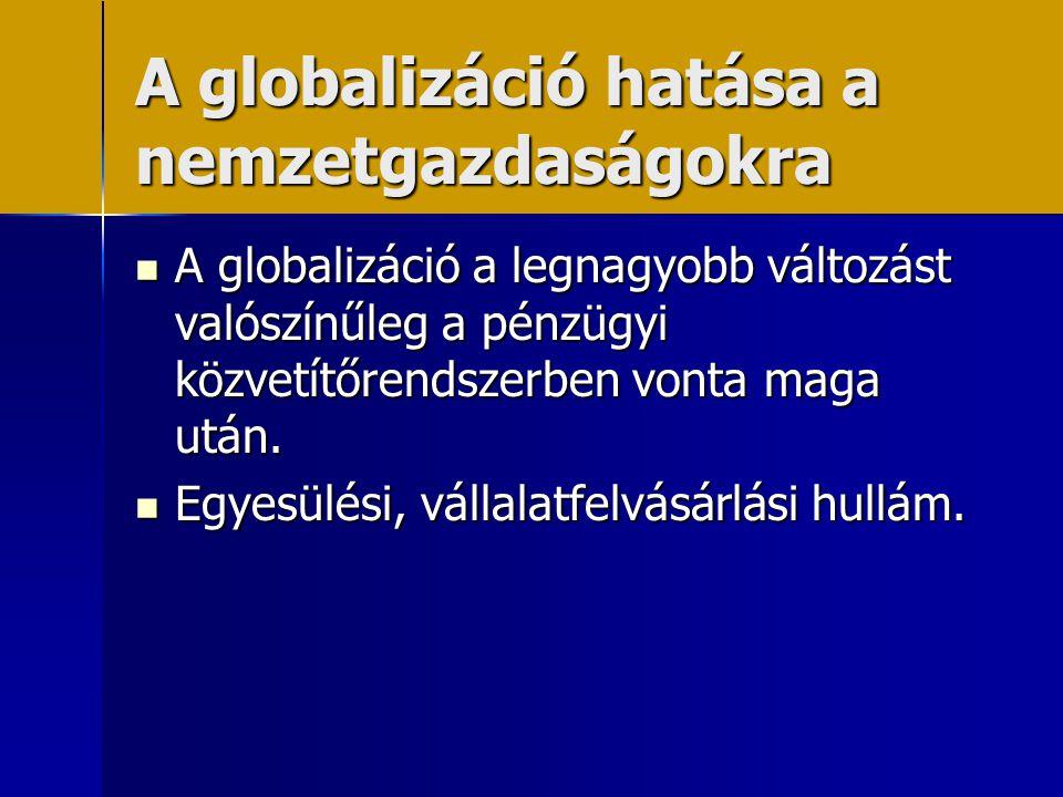 A globalizáció hatása a nemzetgazdaságokra
