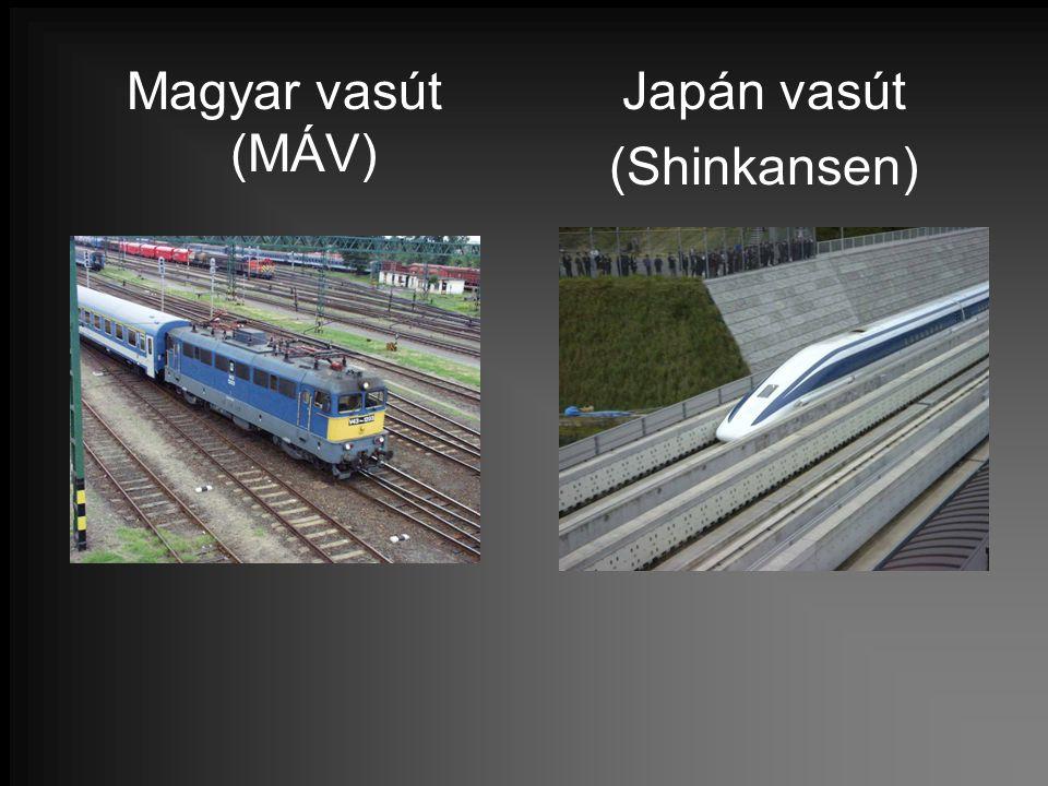 Magyar vasút (MÁV) Japán vasút (Shinkansen)