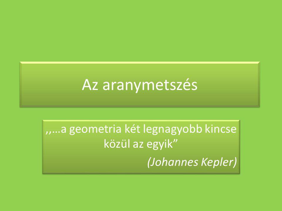 ,,…a geometria két legnagyobb kincse közül az egyik (Johannes Kepler)