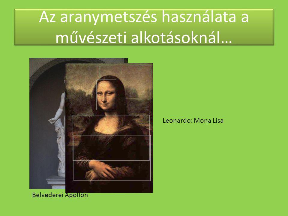 Az aranymetszés használata a művészeti alkotásoknál…