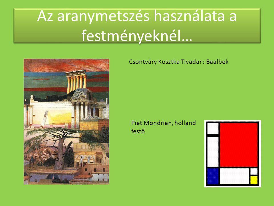 Az aranymetszés használata a festményeknél…
