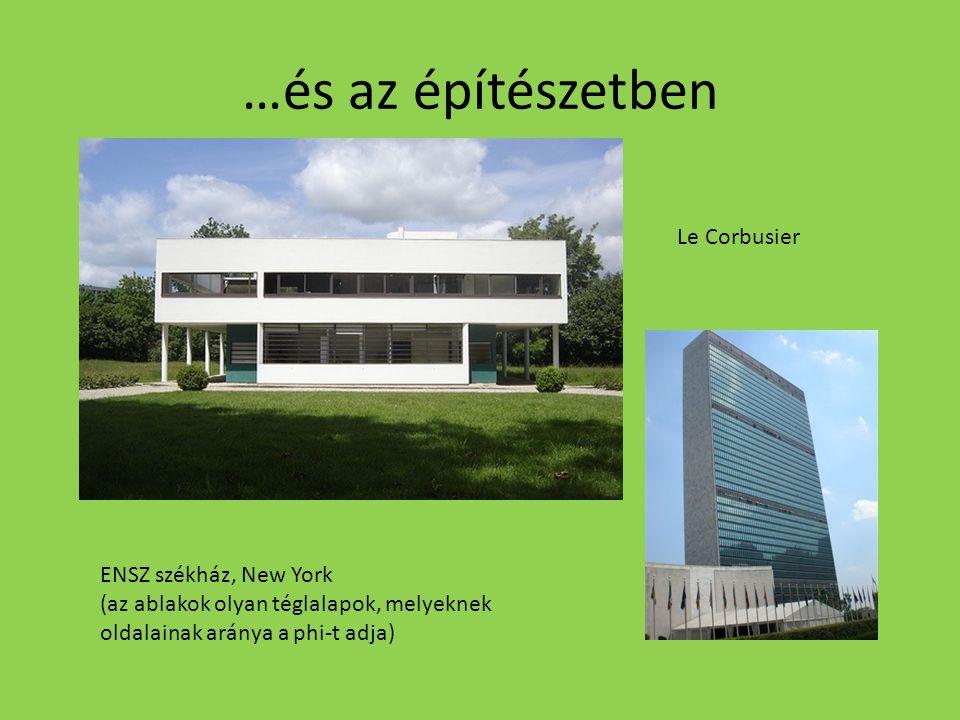 …és az építészetben Le Corbusier ENSZ székház, New York