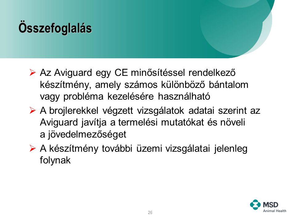 Összefoglalás Az Aviguard egy CE minősítéssel rendelkező készítmény, amely számos különböző bántalom vagy probléma kezelésére használható.